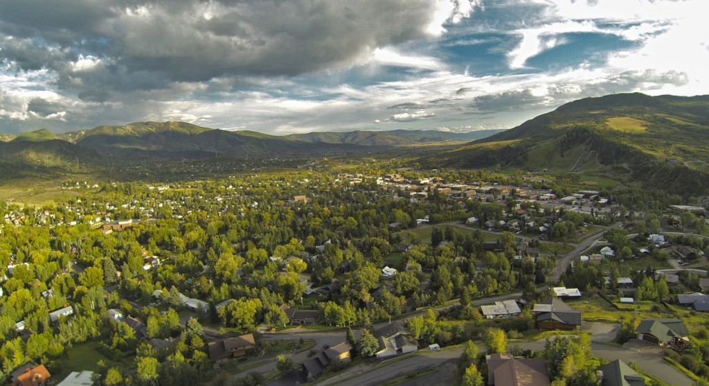Downtown Steamboat Springs from Howelsen Hill